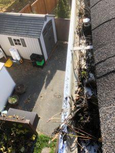 gutter washing - before